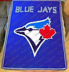 Blue Jays crochet blanket