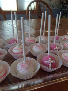First communion cake pops