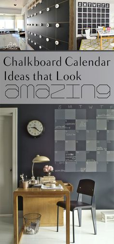 10 Chalkboard Calendar Ideas that look Amazing. Great ideas for organizing your life and schedule. Chalkboard Calendar, Diy Chalkboard, Home Projects, Home Crafts, Backyard Projects, Cheap Home Decor, Diy Home Decor, Modern Modular Homes, Contemporary Home Decor