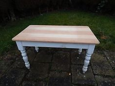 Solid-Antique-Pine-Farmhouse-Table-Ideal-Sanding-Painting-and-Waxing-Project