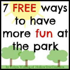 Make your next trip to the park extra special with these 7 FREE fun activities! #kids