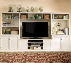 White Built In Custom Entertainment Center For The Home