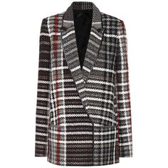 Haider Ackermann Plaid Jacket ($2,125) ❤ liked on Polyvore featuring outerwear, jackets, multicoloured, multi coloured jacket, haider ackermann, colorful jackets, multi colored jacket and multi-color leather jackets