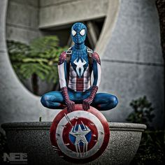 Captain America and Spider-Man Mash Up