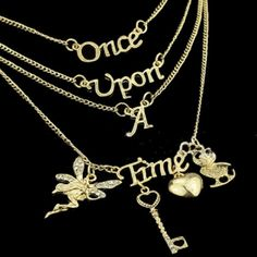 Imagine Your Life Is A Fairytale! This Once Upon a Time necklace suits just about any stylish girl and makes a very nice gift! No need to imagine your life is a fairytale... it will be... and it start