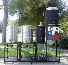 9 Serious DIY Beer-Brewing Rigs - Try making one of these beer brewing rigs to use with one of YOUR favorite - Brewing Supplies, Craft Bier, Beer Brewing Kits, Home Brewery, Home Brewing Equipment, Homemade Beer, Beer Recipes, How To Make Beer, Best Beer