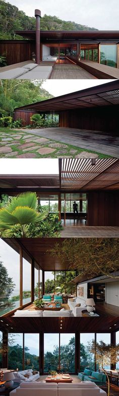 jacobsen arquitetura synthesizes AMB house + brazilian jungle - my dream home Residential Architecture, Contemporary Architecture, Interior Architecture, Exterior Design, Interior And Exterior, Terrasse Design, My Dream Home, Future House, Beautiful Homes