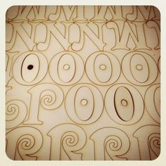 Whilst cutting an order of wooden letters I accidentally created a large POO! Whoops! Steve :-)