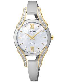 Seiko Women's Stainless Steel Bangle Bracelet Watch 30mm SUP214