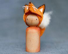Crafty Fox Peg Doll Waldorf Inspired