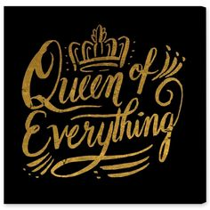 Oliver Gal Artist Co Queen of Everything' Canvas Art
