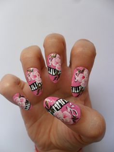Roses and Music nails