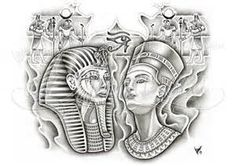 Egyptian King and Queen Tattoos - - Yahoo Image Search Results