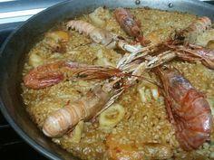 Paella De Mariscos Y Sepia Al Horno Paella De Mariscos Paella Mariscos