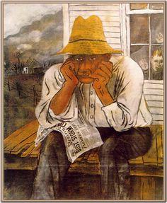 Years of Dust', US government poster - Ben Shahn Walker Evans, Ben Shahn, Social Realism, Jewish Art, Magazine Art, American Artists, Line Drawing, Great Artists, Tempera