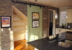 barn door for pantry | ... Park featuring a barn door pantry won a Gold during Parade of Homes