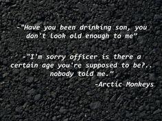 Riot Van Arctic Monkeys #lyrics