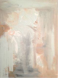 Peaches and Cream, pink, abstract by Mandy Fitzgerald Artwork