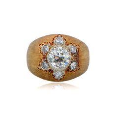 Vintage Buccellati Diamond Engagement Ring by Estate Diamond Jewelry