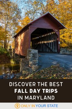 Enjoy nature and fall foliage at these beautiful autumn destinations in Maryland. You'll find state parks, lakes, cliffs, gardens, covered bridges, and more. All make for fantastic and family friendly day trips. Vacation Destinations, Vacation Spots, Visit Maryland, Harpers Ferry, Hiking Spots, Autumn Scenes, Happy Trails, Beautiful Waterfalls, Covered Bridges