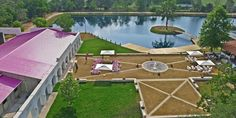 Waterfont features make for a scenic #outdoor wedding venue.  Haras Hacienda at Magnolia TX.