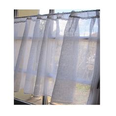 Custom Sheer Window Curtain, White Linen Cafe Curtain, French Kitchen  Decor, French Country