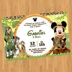 Pronta entrega 1000 unidades disponíveis Mickey Mouse, Drawings, Disney, Invitation Birthday, Baby Letters, Safari Party Decorations, Parties Kids, Apollo, Friends