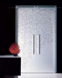 Interior Sliding Glass Barn Doors aura etched glass barn doors   frameless glass sliding doors