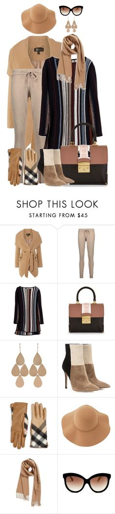 """Striped Sweater"" by amy-brandstatter ❤ liked on Polyvore featuring Lipsy, Chinti and Parker, Maiyet, MayraFedane, Irene Neuwirth, Gianvito Rossi, Burberry, Sans Souci, Nordstrom and Italia Independent"