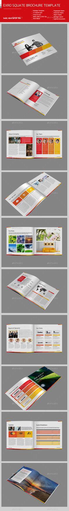 Exro Square Brochure Template #design Download: http://graphicriver.net/item/exro-square-brochuretemplate/13075375?ref=ksioks