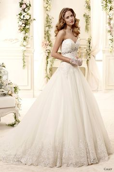 colet bridal 2015 style 67 coab15299iv strapless sweetheart a line wedding dress
