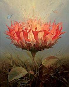 salvator dali...bu bir cehennem ateşimi yoksa dans eden insanlar mı ne muhteşem bir resim yeteneği..