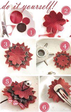 Lederblüten DIY