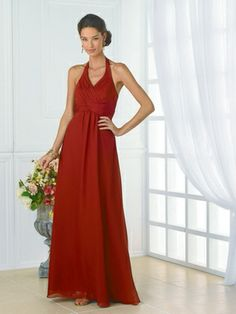 Wedding Dresses, Bridesmaid Dresses, Prom Dresses and Bridal Dresses Christina Wu Bridesmaid Dresses - Style - Christina Wu Celebration Bridesmaid Dresses. Halter, chiffon gown with rouging on the bodice. Shown In: Persimmon Fabric: Chiffon Inexpensive Bridesmaid Dresses, Satin Bridesmaid Dresses, Prom Dresses, Bridesmaids, Bridesmaid Color, Bridesmaid Ideas, Dresser, Chiffon Gown, Halter Gown