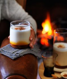 A cosy & soothing fall / autumn drink - Hot caramel and star anise milk recipe :: Gourmet Traveller