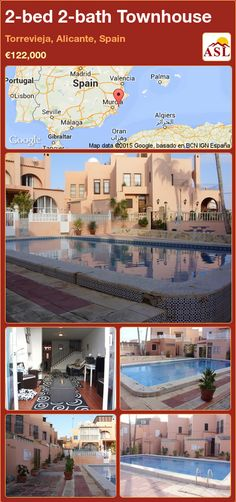 Townhouse for Sale in Torrevieja, Alicante, Spain with 2 bedrooms, 2 bathrooms - A Spanish Life Downstairs Toilet, Alicante Spain, Wooden Cabins, Ground Floor, Townhouse, Terrace, Swimming Pools, Spanish, The Unit