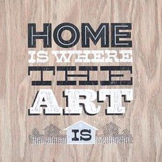Home Is Where The Art Is by FinerThingsShop on Etsy
