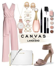 """Paint Your Look With Canvas by Lands' End: Contest Entry"" by fifi82101 ❤ liked on Polyvore featuring Canvas by Lands' End, Lands' End, Michael Kors, Gucci, Terre Mère, Chanel, Christian Dior, Urban Decay, Larsson & Jennings and NLY Accessories"