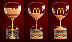 McDonald's Integrated Advert By Leo Burnett: Iftar Sand Clock Creative Company, Ads Creative, Mcdonalds, Grain Of Sand, Branding, Iftar, Grow Lights, Ad Design, Graphic Design