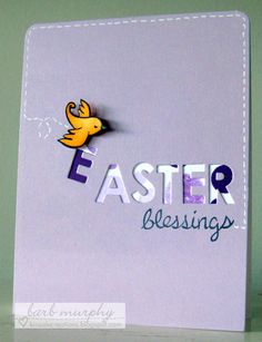 Lawn Fawn Easter card Easter Projects, Easter Ideas, Easter Card, Lawn Fawn, Card Tags, Blessings, Blessed, Card Making, Scrap