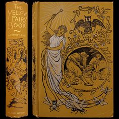 1895 YELLOW FAIRY BOOK ANDREW LANG FAIRY TALES ILLUSTRATED DRAGONS FINE BINDING