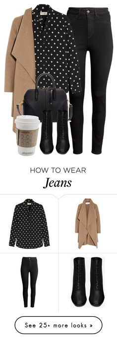 Untitled #5086 by laurenmboot on Polyvore featuring H&M, Yves Saint Laurent, Harris Wharf London, Zara, women's clothing, women's fashion, women, female, woman and misses