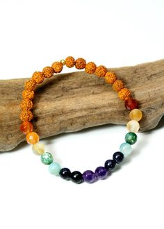 JeanneVerger.com - Chakra Balancing Bracelet The 7 Chakras are the energy centers in our body in which energy flows through. Each beautiful gemstone in the Chakra Balancing Bracelet has been chosen to represent the seven major chakras of your body. Wear this powerful bracelet and infuse your own Chakra Balancing affirmation.  Available here: http://shop.jeanneverger.com/collections/gemstone-bliss/products/chakra-balancing-bracelet