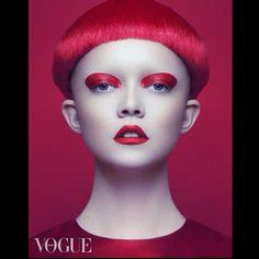 via @joycebonelli Italian Vogue Shoot! #MakeupBYjOYCE #VijatMohindraPhotography #Makeup #Fashion #ItalianVogue #Art