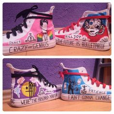 Emo Trinity painted shoes ig: @eenterprisee