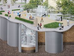 an earthquake-resistant underground bike parking system has been developed to…