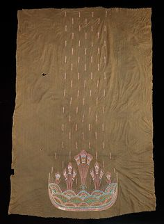 Textile panel with beadwork, attributed Sarah Lipska (Polish, 1882–1973),1920–29, French, silk and beads, Dimensions: 79 in. (200.7 cm)     Metropolitan Museum of Art