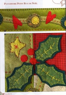 free patterns for dozens of cute penny rug/applique projects on this Russian blog....