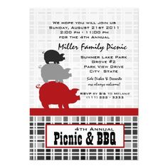 Picnic and BBQ Announcement
