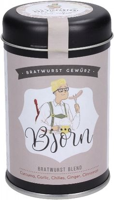 Bratwurst, You Can See Me, Spice Blends, Packaging Design, Spices, Canning, Illustration, Projects, Label
